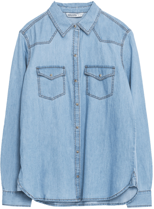 Zara BASIC DENIM SHIRT