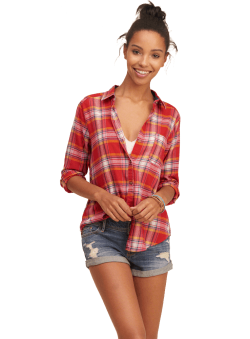 Boyfriend Easy Plaid Shirt