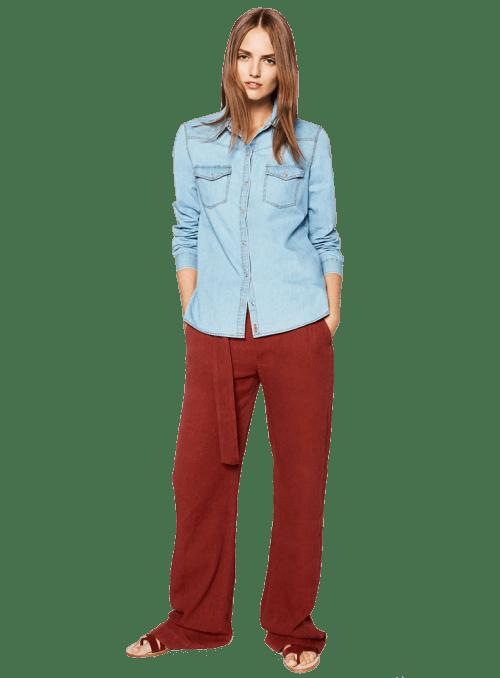 Zara BASIC DENIM SHIRT