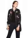 Zara BOMBER JACKET WITH PATCHES