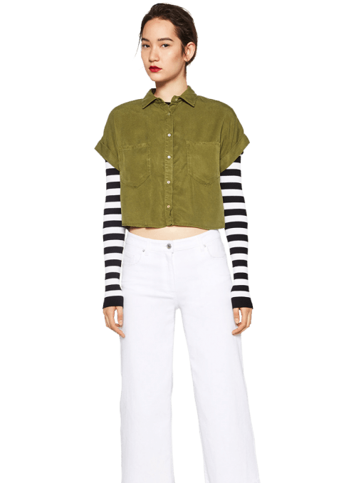 Zara CROPPED SHIRT