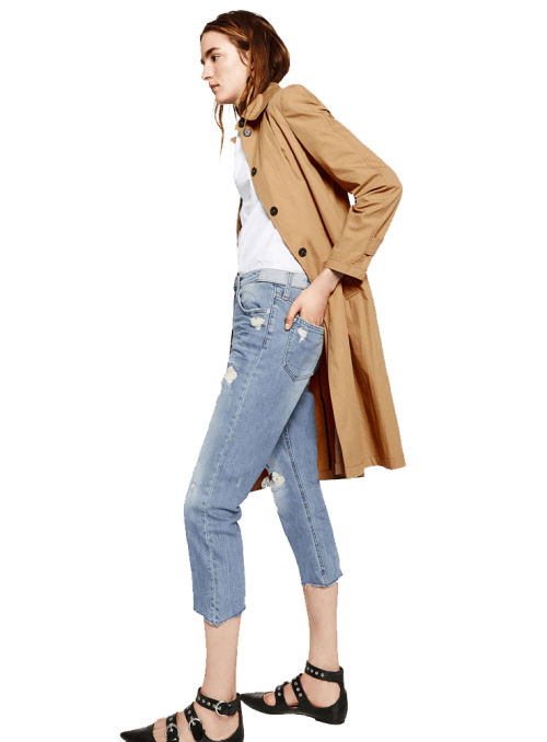 Zara MID-RISE CIGARETTE JEANS